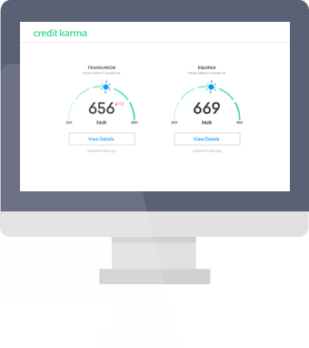 Free credit reports credit karma simulated computer screen ccuart Image collections