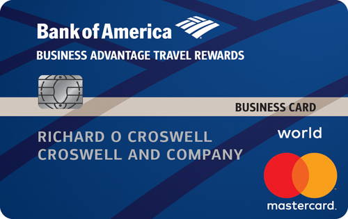 Bank of America® Travel Rewards World MasterCard® for Business credit card