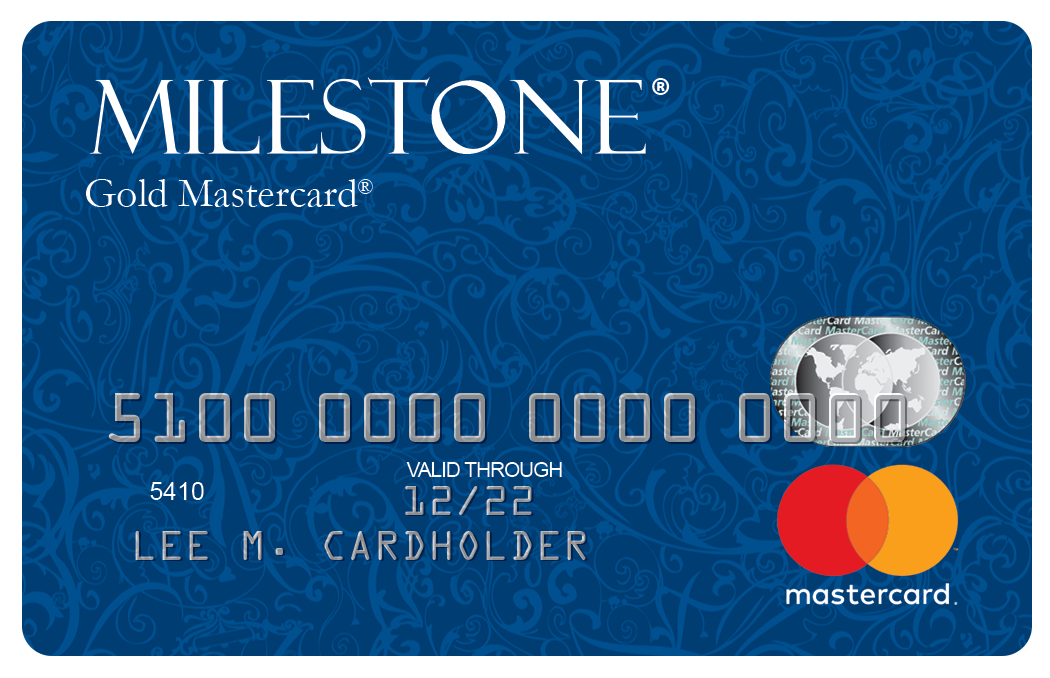 Image result for Credit Milestone® Gold MasterCard